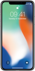 Apple iPhone X 256GB, stříbrná