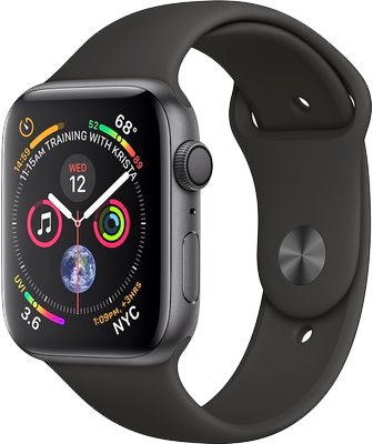 APPLE Watch Series 4 - 44mm Space Grey Aluminium Case (černá)